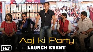 Aaj Ki Party Song Launch | Salman Khan, Kareena Kapoor, Mika Singh | Bajrangi Bhaijaan
