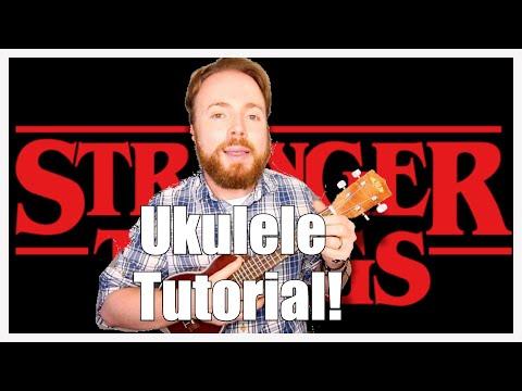 STRANGER THINGS NETFLIX THEME - UKULELE TUTORIAL!