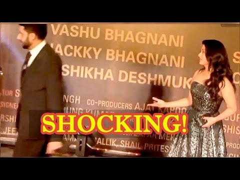 Angry Abhishek Bachchan Walks Off Leaving Aishwarya Rai Bachchan Behind