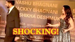 Angry Abhishek Bachchan Walks Off Leaving Aishwarya Rai Bachchan Behind