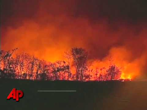 Raw Video: 'Fire Tornado' In Brazil