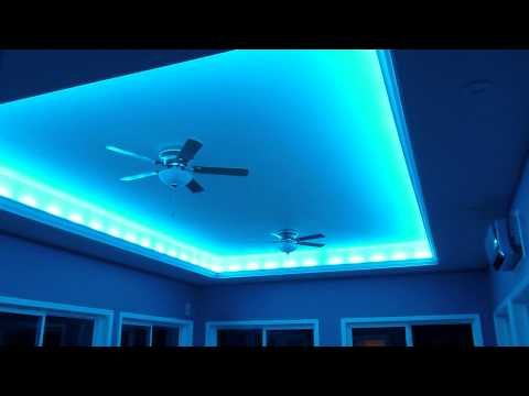 Crazy Lights LED indirect lighting for the ceiling. Music Videos