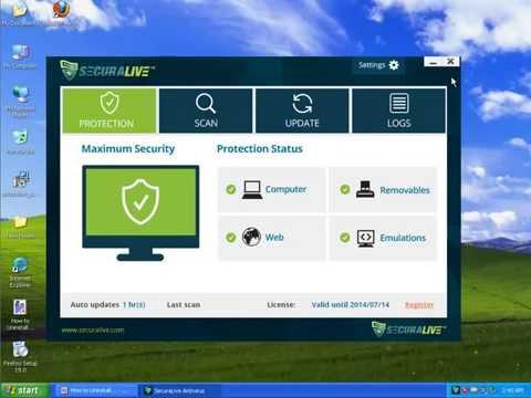 Uninstall SecuraLive Antivirus v9.0