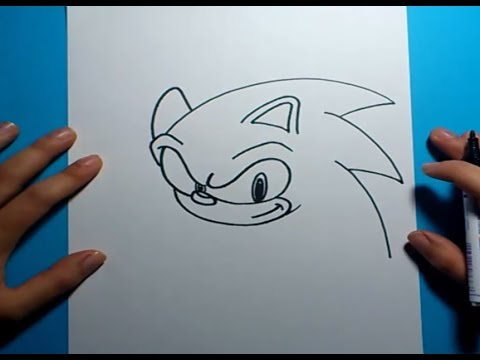 Como dibujar a Sonic paso a paso Sonic How to draw Sonic Sonic