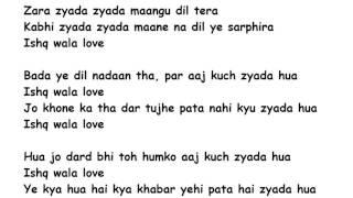 Ishq Wala Love Lyrics Full Song Lyrics Movie - Student Of The Year (2012)