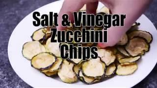 Salt Vinegar Zucchini Chips