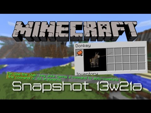 Minecraft | Snapshot 13w21a New Horse UI, Command Tips & MORE!