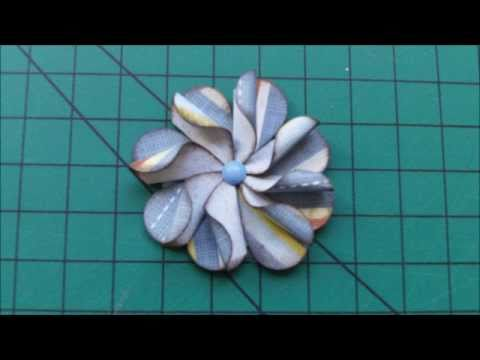 Flor de papel scrapbook furador de coração - Scrapbook flower heart shaped