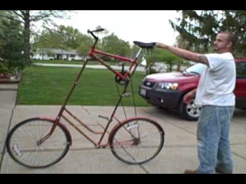 Shawn Rides His Tall Bike  +Tricks