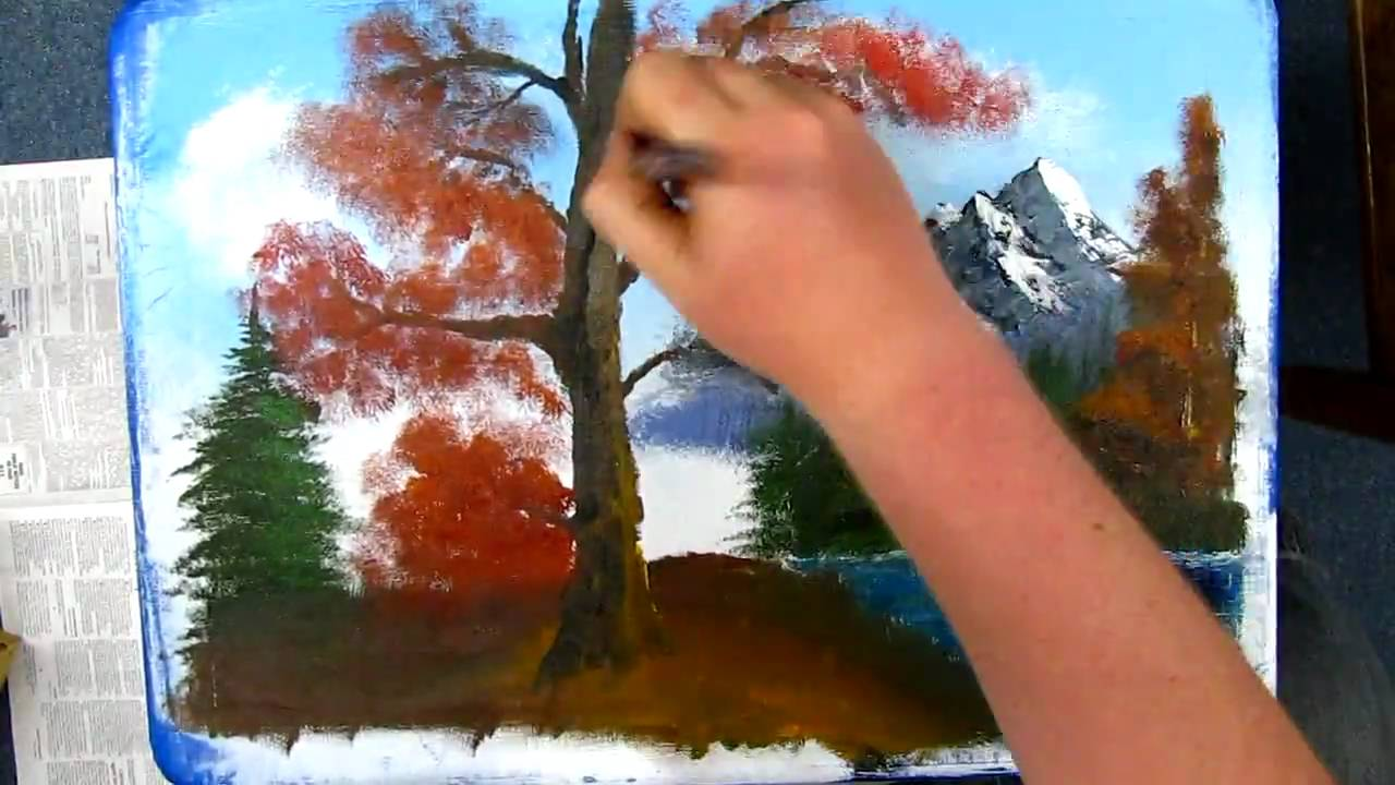 Autumn Landscape Drawing Autumn Landscape Bob Ross