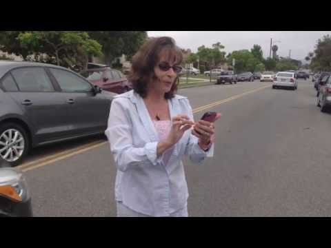 Crazy Lady With Road Rage