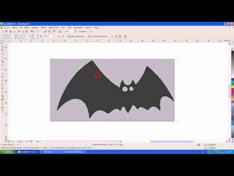 Vectorizar Imagen en Corel Draw desde una Imagen Plantilla para Plotter de corte Creation