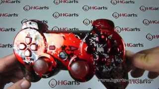 Candy Red Splatter | PS3 Modded Controller | HG Arts Modz