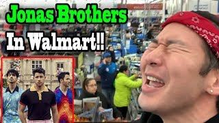 "JONAS BROTHERS ""Sucker"" in Walmart! (Saying YES to my Girlfriend for 24 hours!!)"