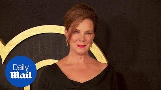 Bold in black! Elizabeth Perkins arrives at HBO Emmys bash