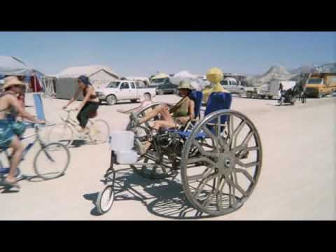Bicycle camper trailer for Burningman