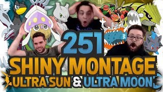 251 SHINY MONTAGE! Pokemon Ultra Sun and Moon Epic Shiny Reactions and Funny Moments!