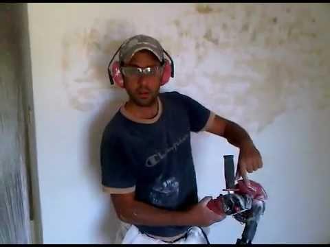 Carteggiare muro senza polvere