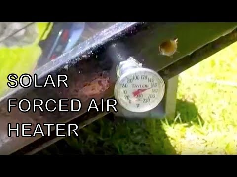 Forced Air Heater Solar PART 1 Passive Heating Recycled Glass Soda Pop Can Free