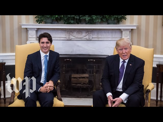 Watch live Trump meets with Canadian Prime Minister Justin Trudeau