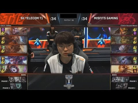 SKT (Faker Taliyah) VS MSF (IgNar Leona) Game 3 Highlights - 2017 World Championship Quarterfinals