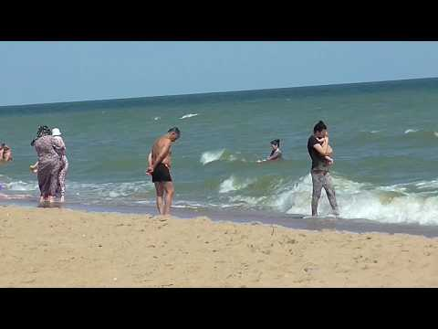 Каспийское море. Пляж Прибой. Махачкала