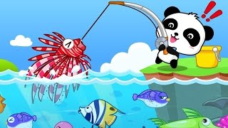 Baby Panda Happy Fishing - Baby Explore, Learn Fish & Occean | Babybus Gameplay