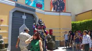 Optimus Prime the comedian at Universal Studios Hollywood