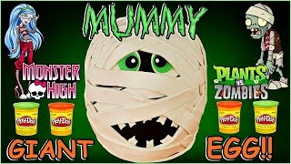 GIANT PLAY DOH SURPRISE EGG MUMMY Halloween Fun & Toy Opening Episode