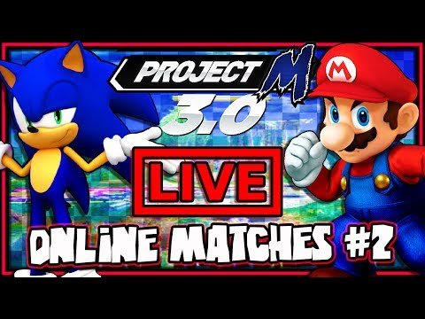 Super Smash Bros Brawl - Project M - Online Matches #2 *LIVE*