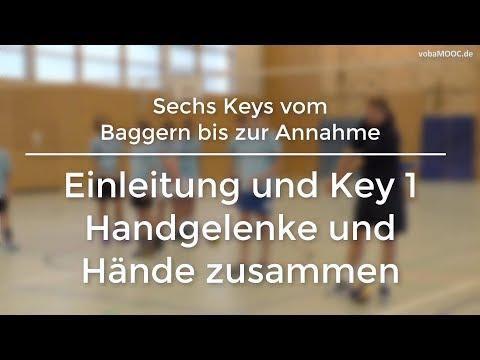 Stefan Hübner - Baggern/Annahme - Einleitung und Key 1: Handgelenke und Hände zusammen