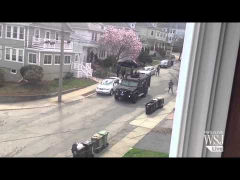 Police and FBI Comb Watertown for Bombing Suspect klip izle