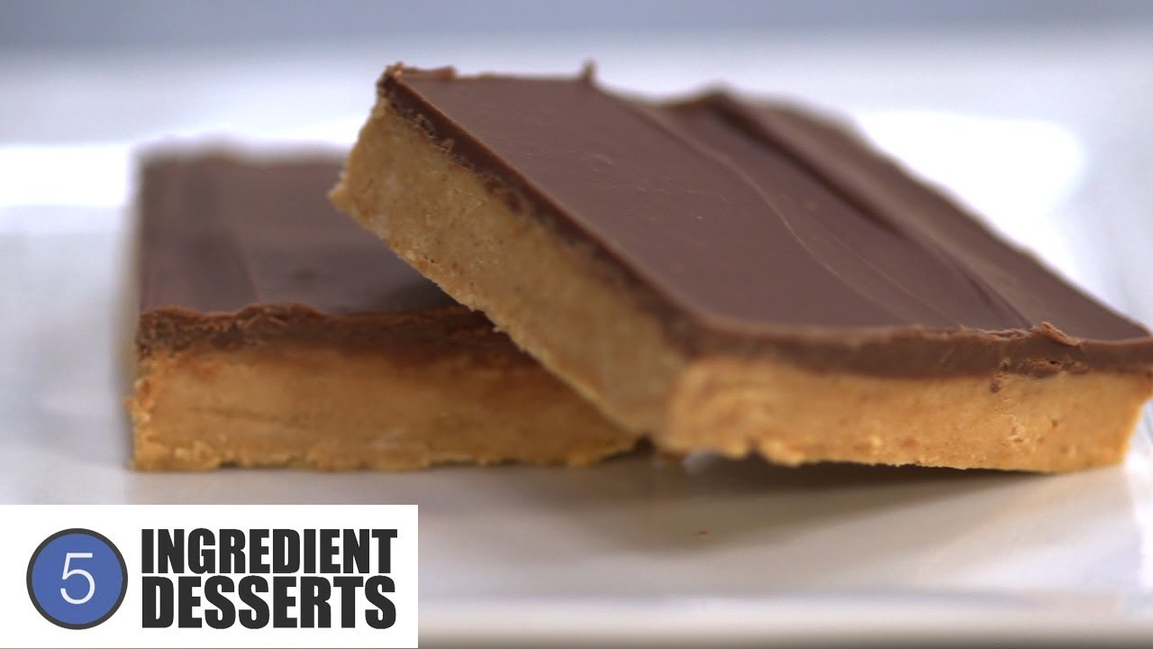 Chocolate Peanut Butter Squares | 5 Ingredient Desserts - YouTube