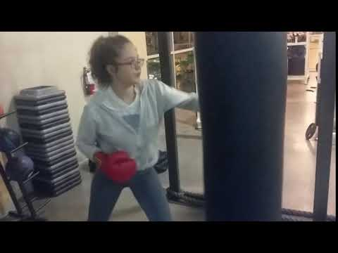 Sophia With The Punching Bag