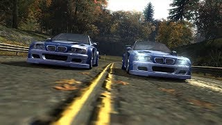 Nameless Driver's BMW M3 GTR vs Razor's BMW M3 GTR [NFS Most Wanted 2005]