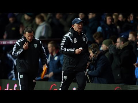 Tony Pulis reacts to Albion's FA Cup quarter-final defeat at Aston Villa