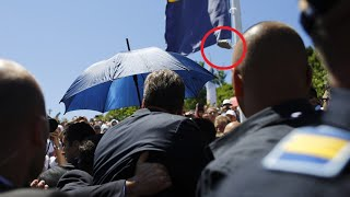 Angry mourners jeer, throw stones at Serbian PM during Srebrenica memorial