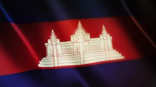 Flag of Cambodia - Free Royalty Footage - FreeGraphicStock.com