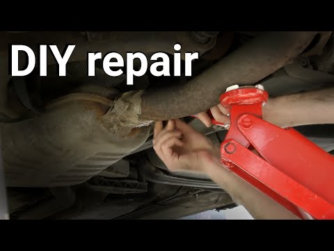 how to fix hole in muffler
