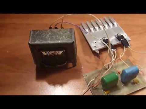 Как сделать преобразователь напряжения 12-220 вольт