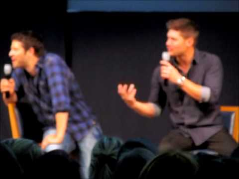 JIB4 Supernatural Con in Rome 2013 - Jensen and Misha Panel PART 6