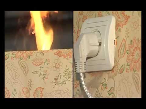 общего возгорание розетки чем тушить вестибюль