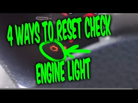 HOW TO RESET CHECK ENGINE LIGHT CODES. 4 FREE EASY WAYS !!!