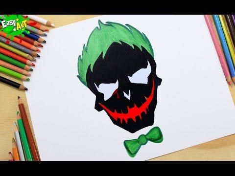 Cómo Dibujar el logo del Joker │How to draw logo Joker