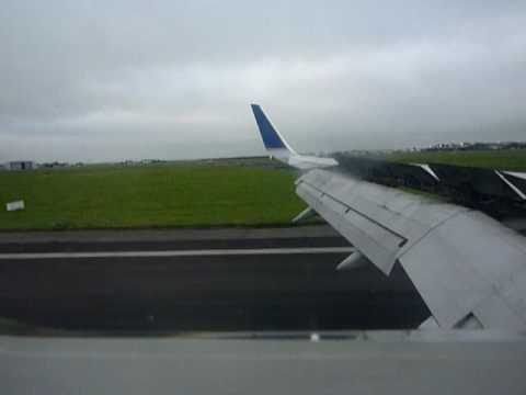 Continental Landing at Shannon airport