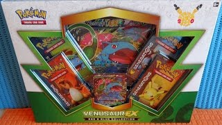 2016 Pokémon TCG: Venusaur EX Box so Many Rare EX Cards in 4 Booster Packs - Free Codes フシギバナEX