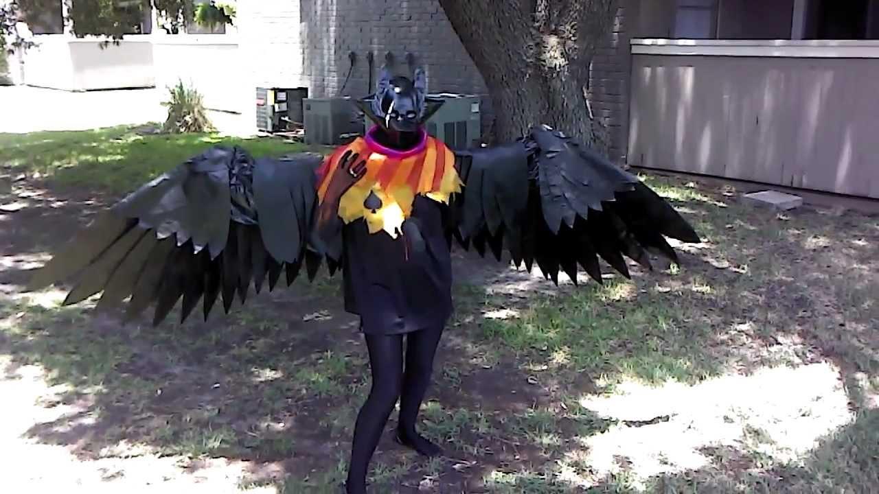 homestuck bec noir cosplay articulated wings youtube