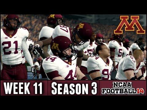 NCAA Football 14 Dynasty: Week 11 @ #13 Auburn & BIG News - (Season 3)