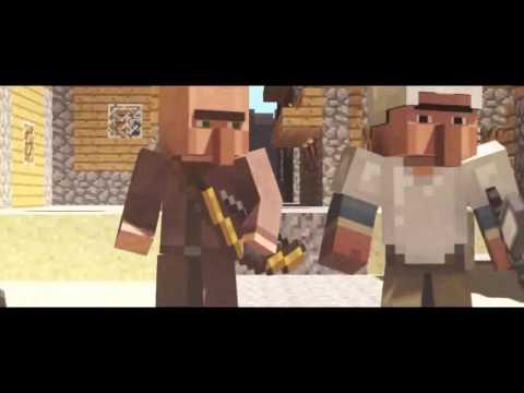 Animacion Minecraft Aldeanos Al Ataque2