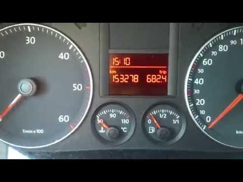 Kasowanie Inspekcji VW Golf V Oil Service Indicator Light Reset VW Golf V